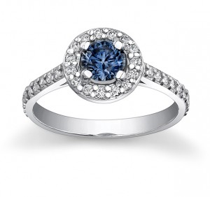 blue garnet ring
