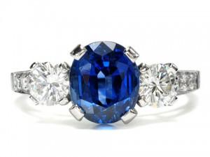 blue sapphire ring tiffany