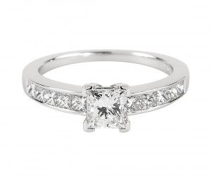 cut diamond ring