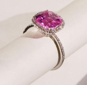 pink ruby ring