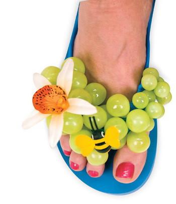 Copy of grape jelly flip flops