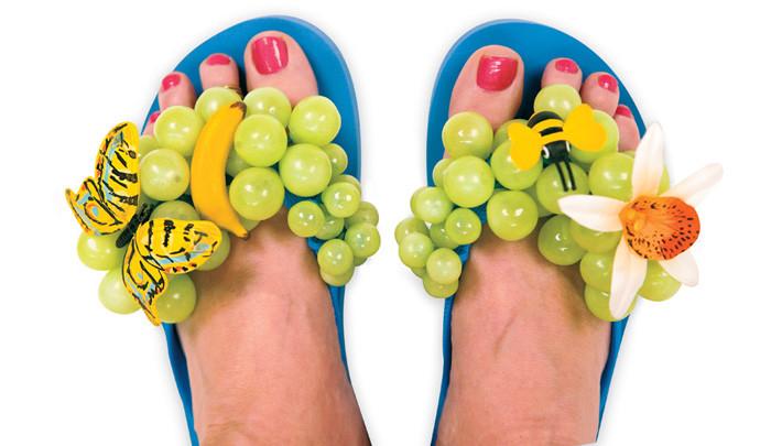 grape jelly flip flops