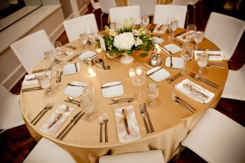 gold wedding seating