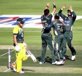 SocioFab - A moment when Paki's celebrate an Ausi batsman's dismissal