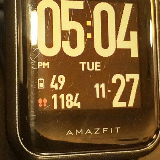 Amazfit BIP Watch Face Customised - SocioFab